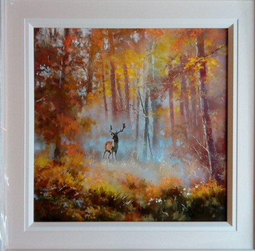 STag contemplation with frame